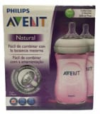 Natural Bottle 260ml Pink 1M+ 2s