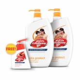 Body Wash - Vita Protect 2sX1L + Free Total 10 Hand Wash 200ml